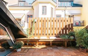 大户型三居室乡村田园风格露台花园设计图片鉴赏
