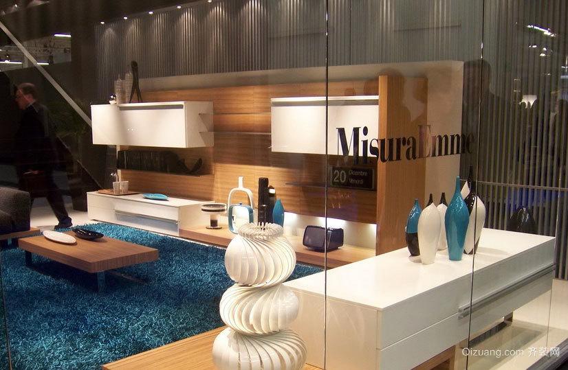 2015时尚欧式客厅整体壁柜装修效果图大全