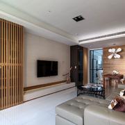 日式白色简约的背景墙