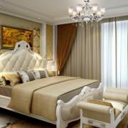 温婉的卧室米色窗帘