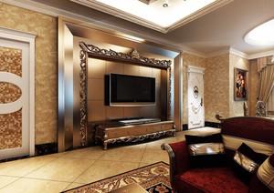 客厅精致的背景墙
