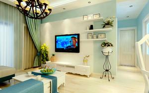 客厅置物架装饰