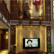中式传统型的背景墙