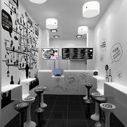 奶茶店黑白装饰画