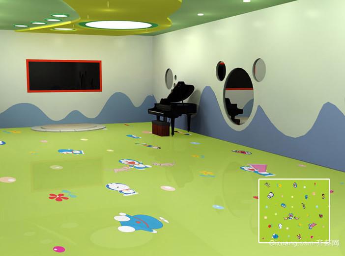 彩色避免受伤的幼儿园塑胶地垫装修图片