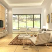 客厅温暖黄色地毯