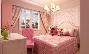 粉色系的儿童房