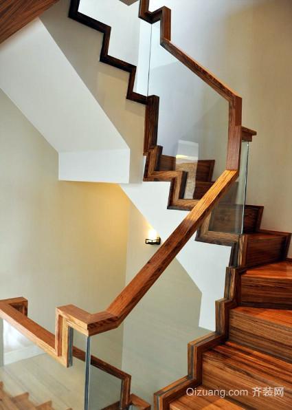 农村奢华小别墅楼梯扶手装修效果图