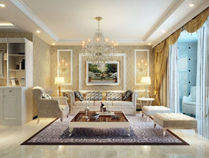 现代简欧风格客厅沙发