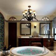 别墅美式卫生间浴缸