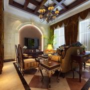 中式风格的客厅背景墙