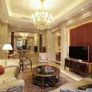 奢华的客厅背景墙