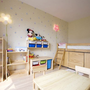 儿童房收纳柜布置