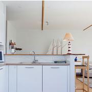 厨房白色简约吧台