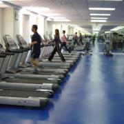 健身房蓝色安全地板