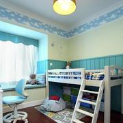 蓝色儿童房床展示
