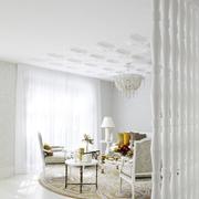 客厅白色的隔断