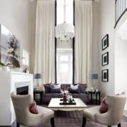 高雅气质的客厅窗帘