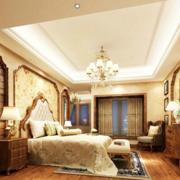 中式大气的卧室窗帘