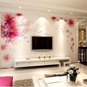 韩式靓丽花瓣背景墙