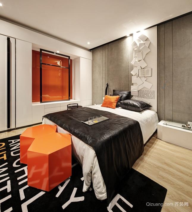 灰色沉稳的卧室装修效果图