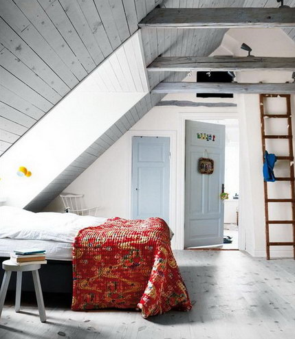 不得不看的小复式楼斜顶阁楼 卧室装修效果图