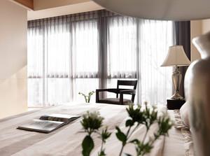 卧室素雅窗帘欣赏