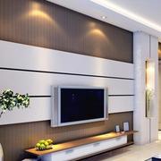 白色时尚的电视墙