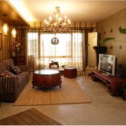 温馨的客厅电视墙