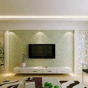 客厅绿色清新电视墙