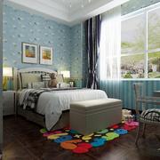 儿童房蓝色小清新壁纸