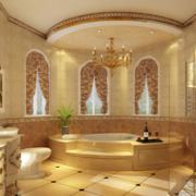 别墅井壁辉煌的卫生间