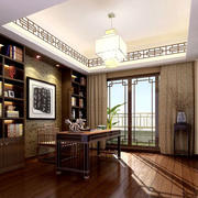 中式书房美观吊顶