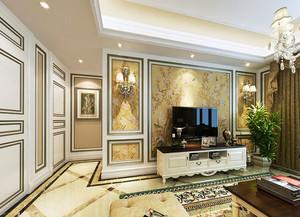 客厅纹理清晰的背景墙