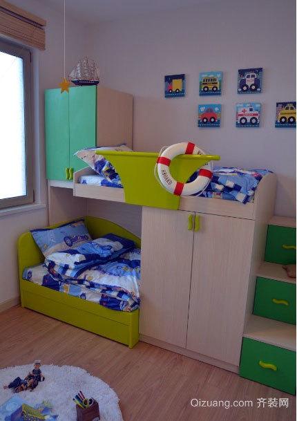 2015饶有趣味的都市儿童房高低床装修效果图