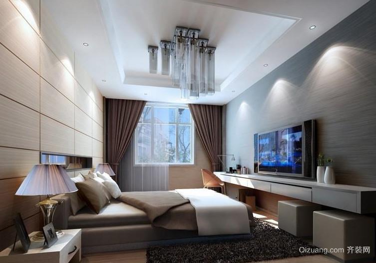 具有绅士品格的单身汉公寓卧室装修效果图