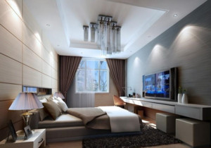 男士公寓大卧室装潢