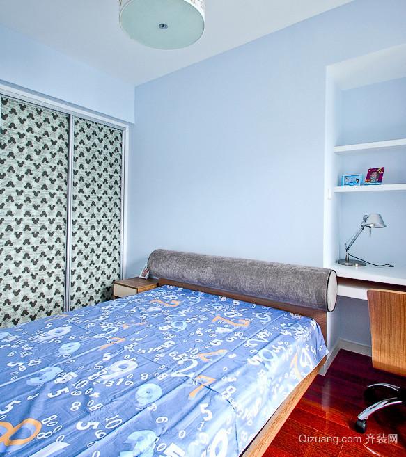 如思念般的蓝色卧室装修效果图