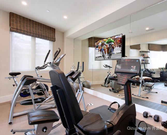 让你可以在家运动的小型家居室内健身房装修设计效果图