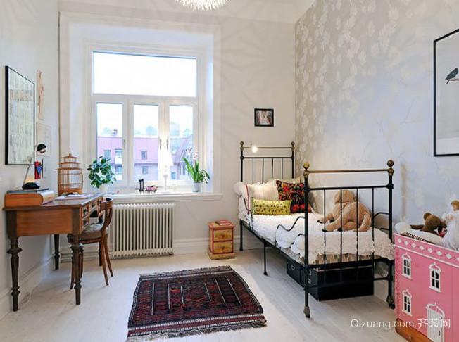 纯洁淡雅的欧式风格儿童房设计装修图片大全