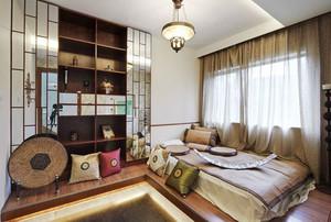 三室一厅中式古典书柜装修效果图