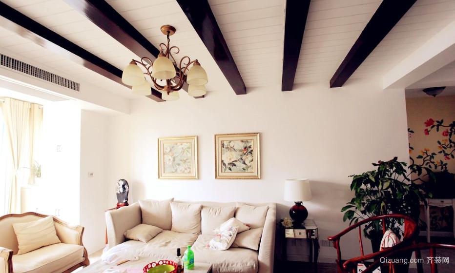 精致北欧风格客厅吊顶装修效果图