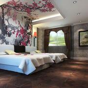 卧室梅花背景墙