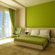 绿色清新卧室设计