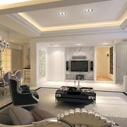 现代化的客厅背景墙