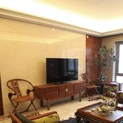 客厅简洁的背景墙