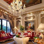 奢华搭配的客厅
