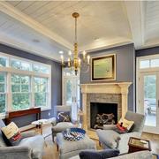 美式风格的大客厅
