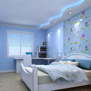 蓝色海洋般的卧室