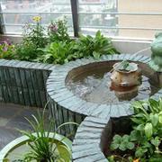露台小喷泉欣赏